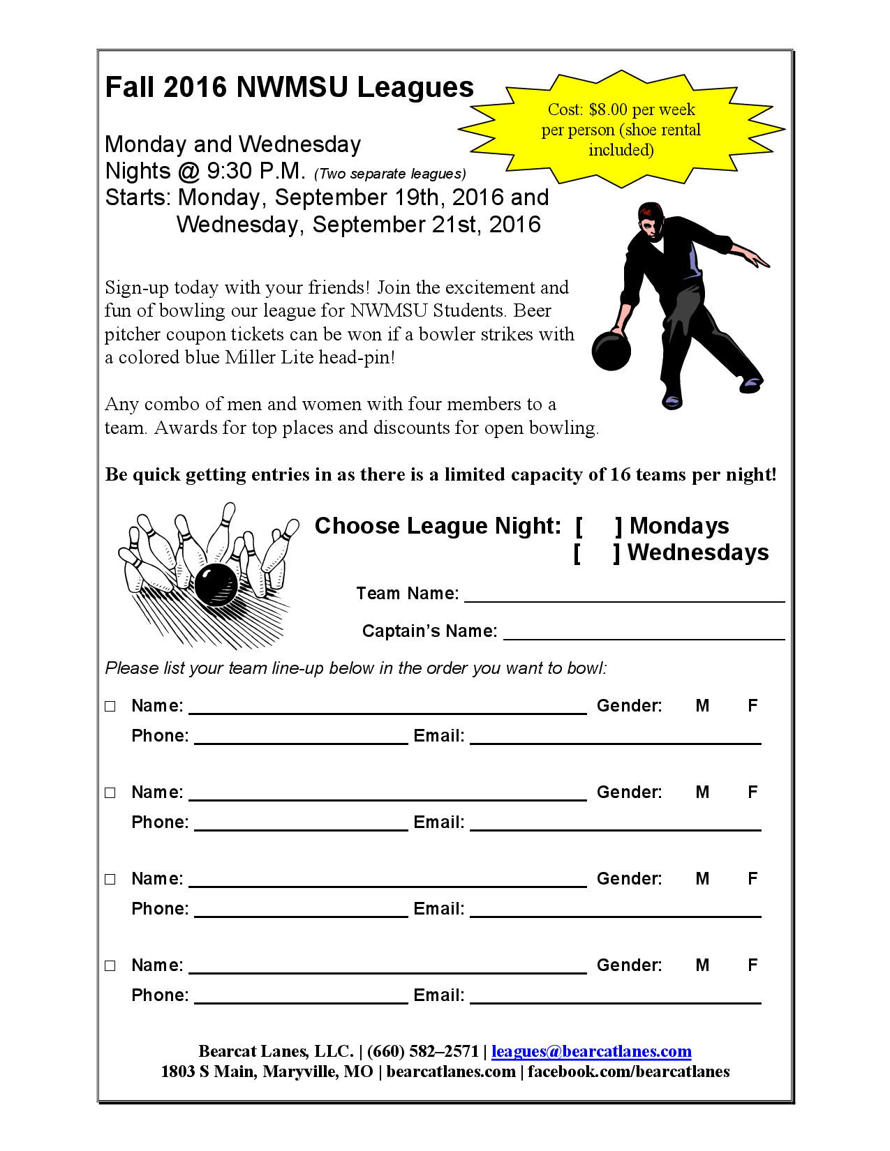College League Signup
