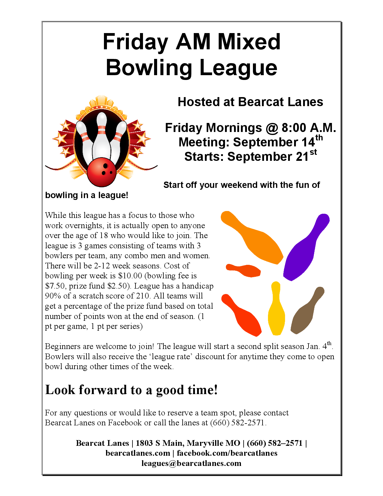 Friday AM Mixed League