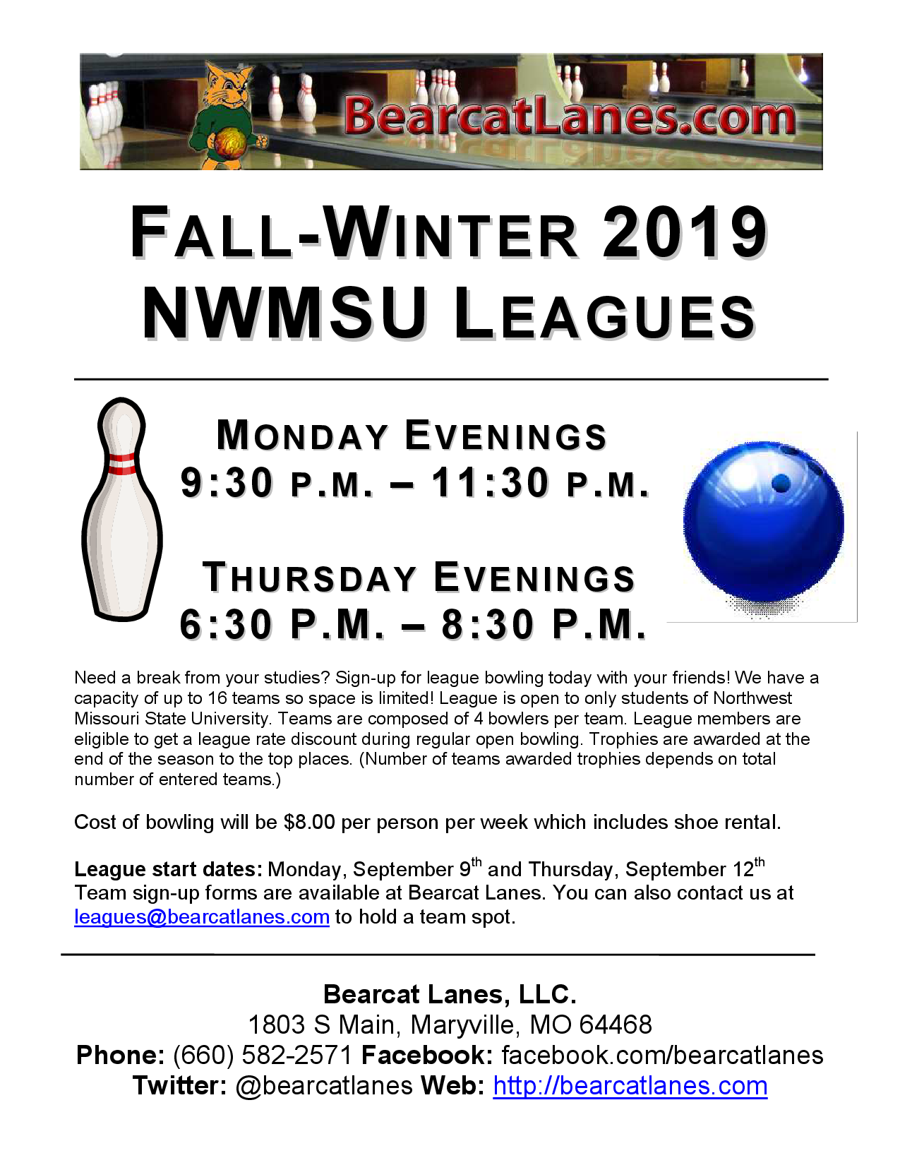 NWMSU Leagues