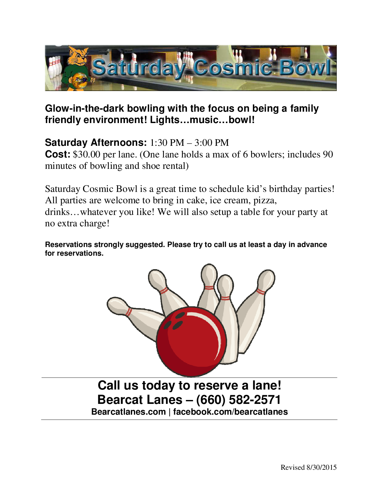 Saturday Cosmic Bowl