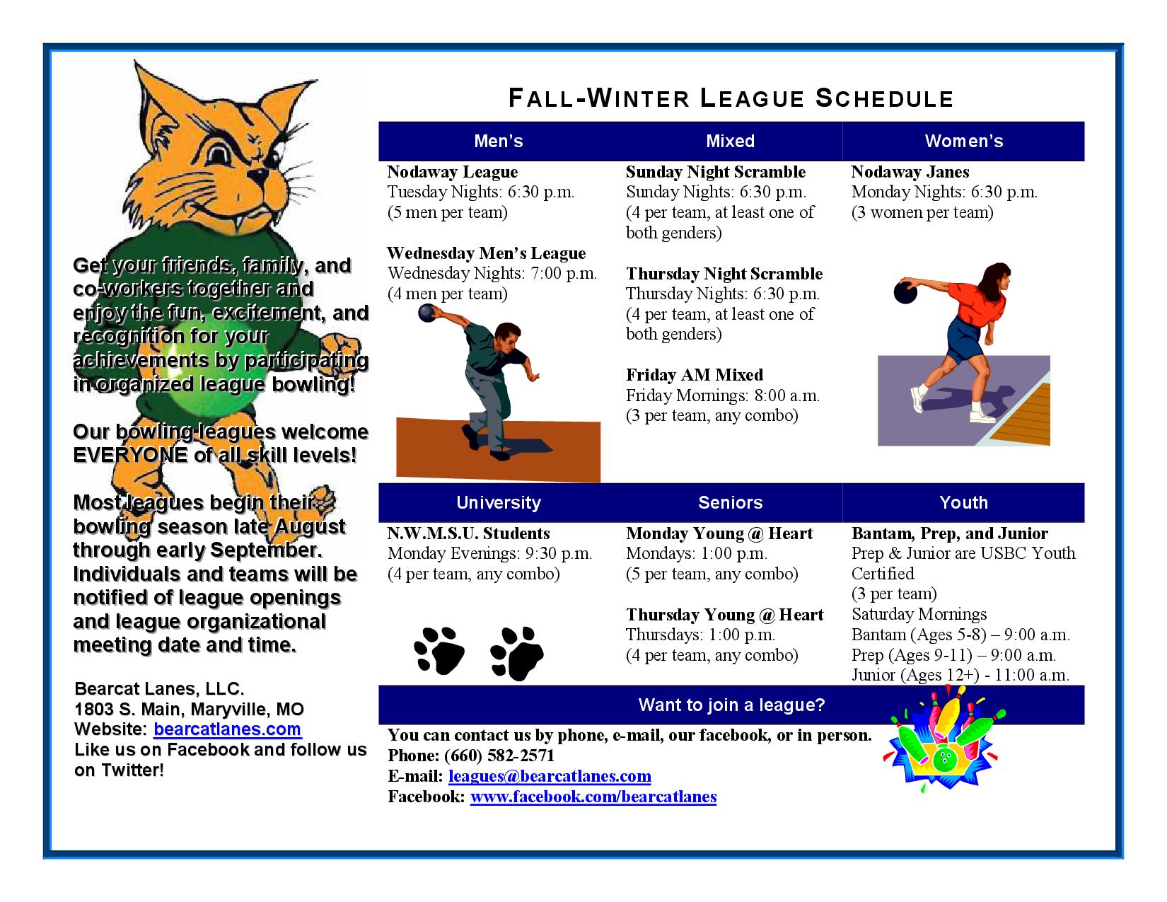 Fall League Info